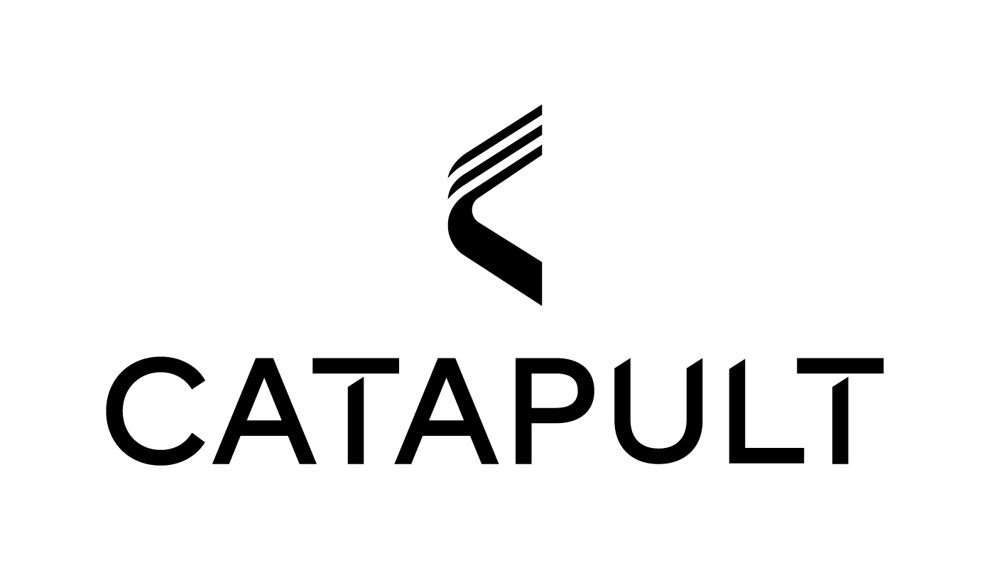 Catapult logos wordmark vertical black